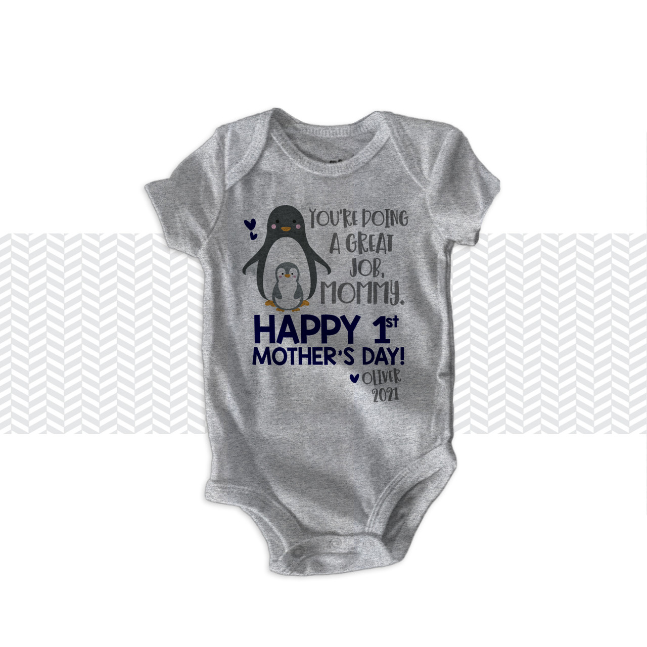 Mother/'s Day 1st Mother/'s Day Gift Personalized First Mother/'s Day Gift First Mother/'s Day bodysuit Elephant bodysuit