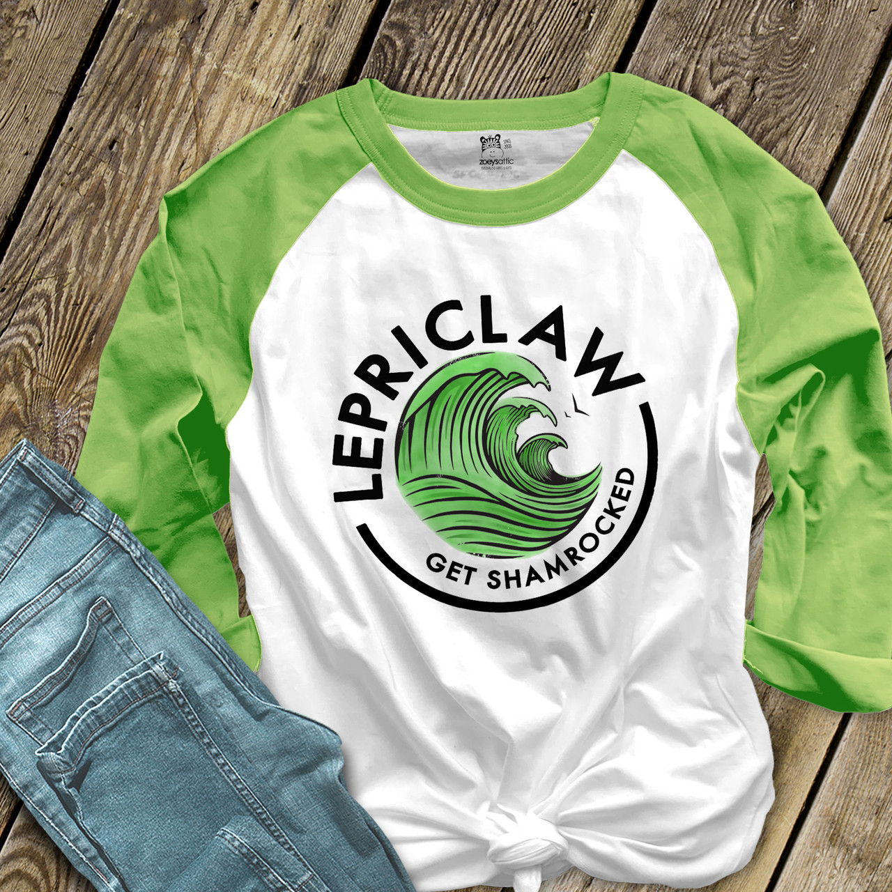 I Was Born Lucky Forest Green Adult T-Shirt