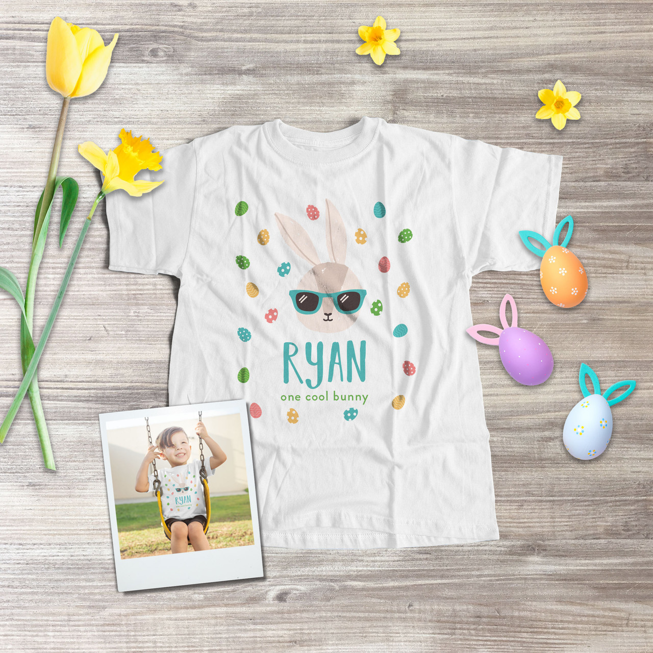 Bunny Face ~ Easter ~ Kids bodysuit and shirt  ~ Personalized