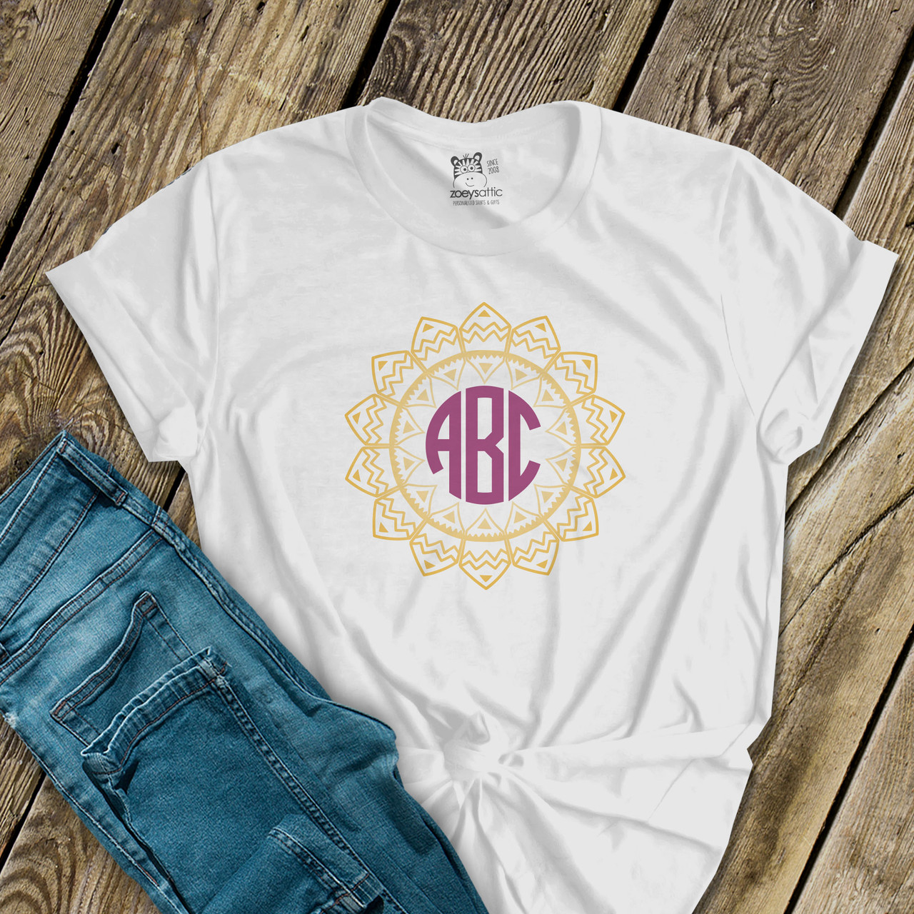 Initials Embroidered Baby T-Shirt Gift Personalised Unisex
