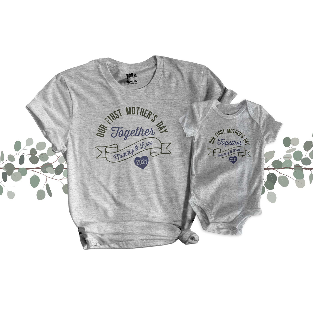 Our First Mother/'s Day 2020 Custom Name Personal Kids Adult T-shirts NEW
