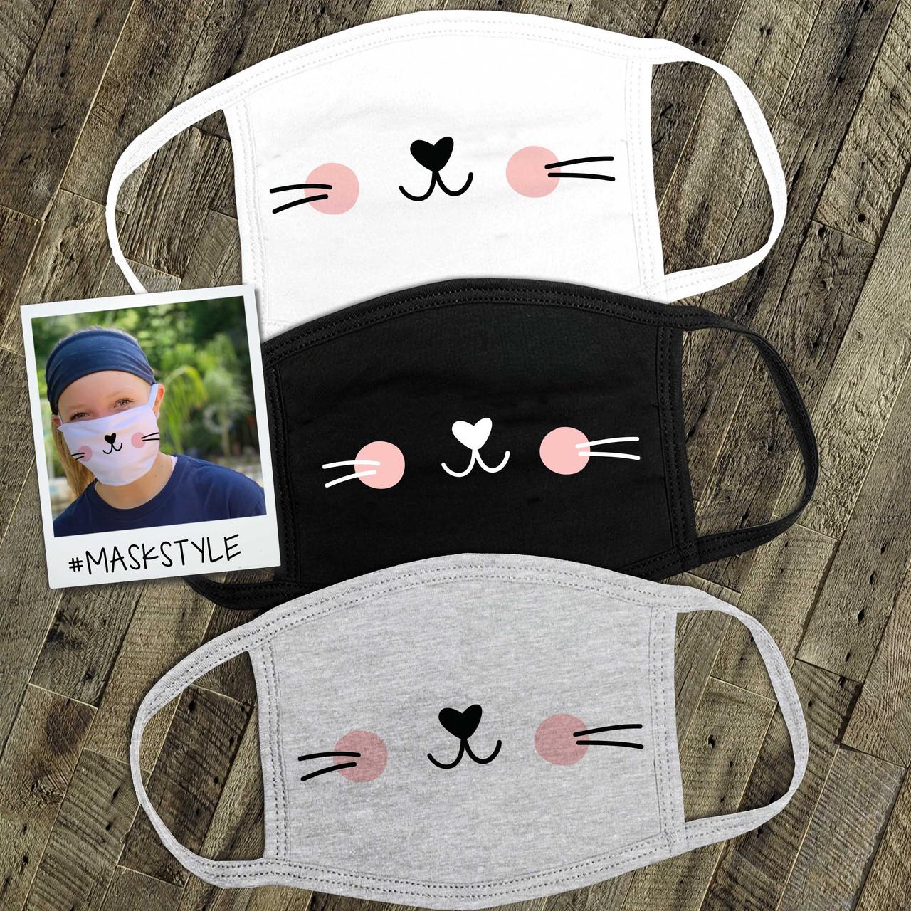 Face Mask Cute Kitty Cat Cotton Mask