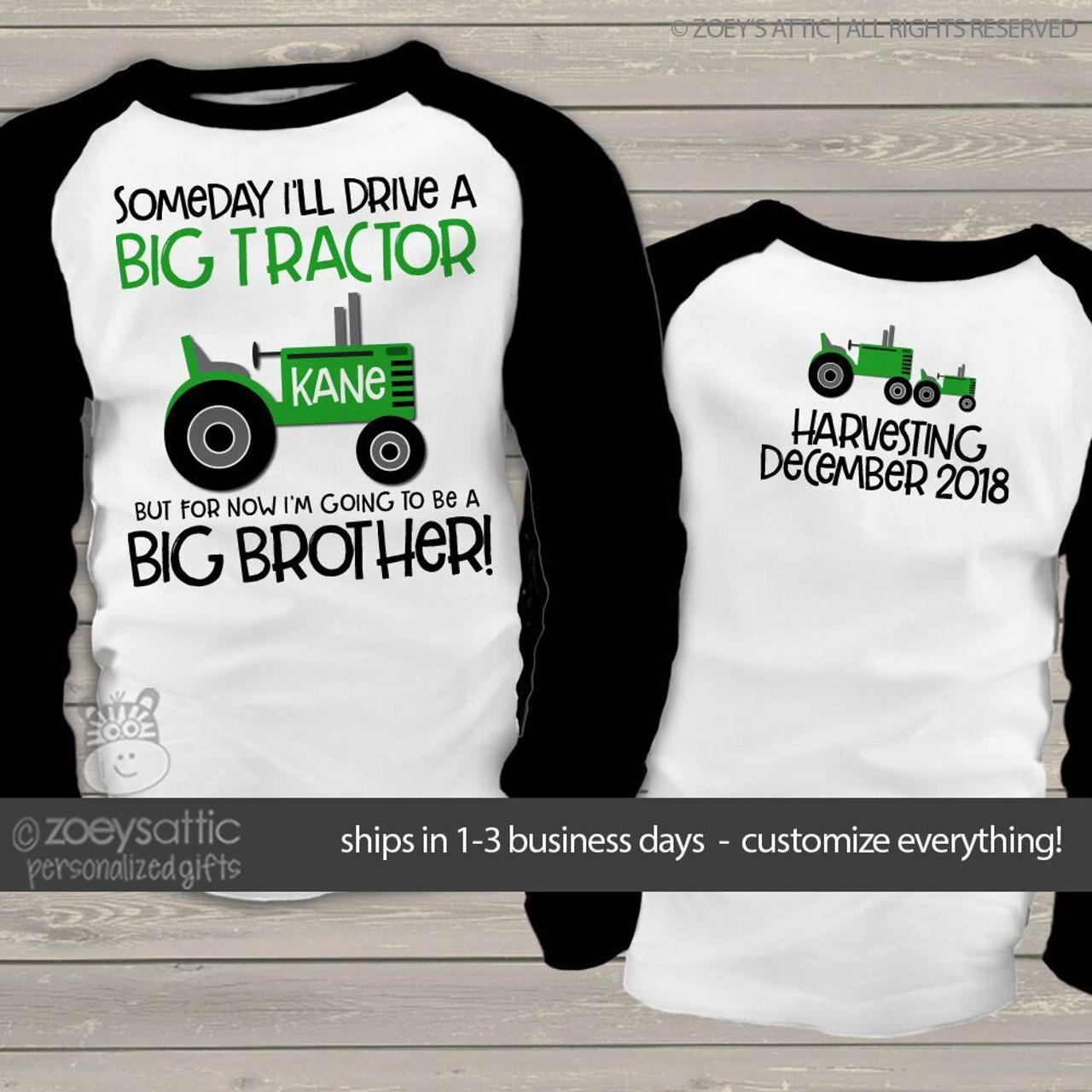 da358cded big brother shirt, tractor big brother pregnancy announcement raglan t-shirt