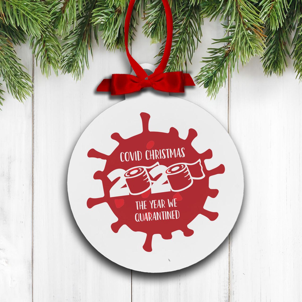 christmas 2020 ornament quarantined covid christmas holiday ornament covid christmas the year we quarantined holiday ornament
