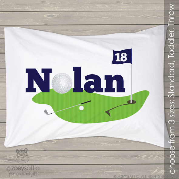 Golf personalized pillowcase / pillow