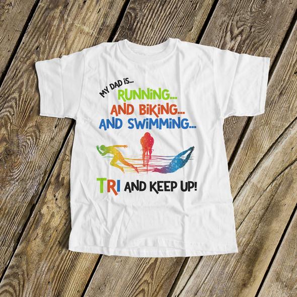 Cheerleader shirt childrens mom dad triathlon cheerleader Tshirt