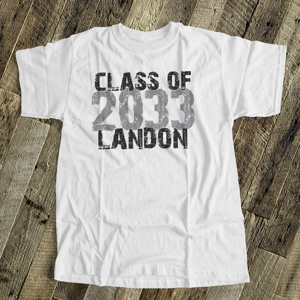 Back to school shirt class of any year through the years from kindergarten to high school custom Tshirt