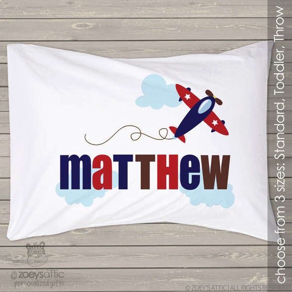 Airplane personalized pillowcase / pillow