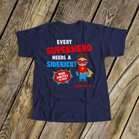 Big brother shirt comic book superhero pregnancy announcement DARK Tshirt