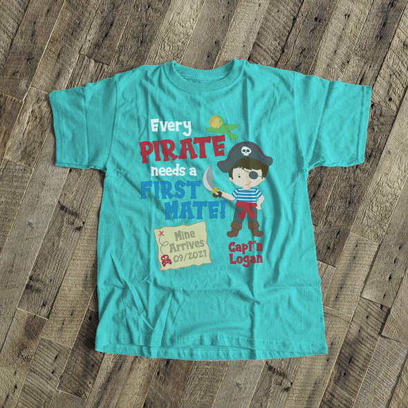 Big brother shirt pirate first mate pregnancy announcement DARK Tshirt