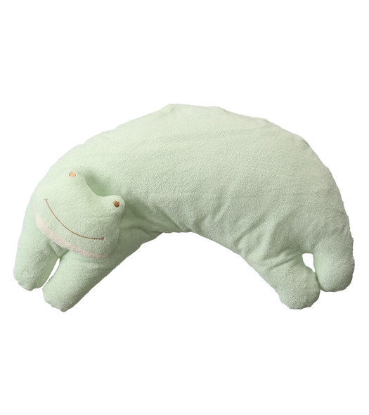 Froggy Curved Pillow by Angel Dear