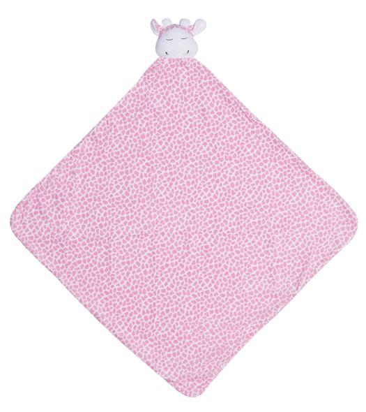 Pink Giraffe Napping Blanket by Angel Dear