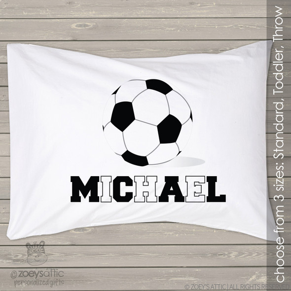Soccer ball sports theme personalized pillowcase / pillow