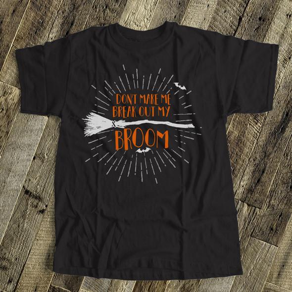 Halloween funny witch broom DARK Tshirt