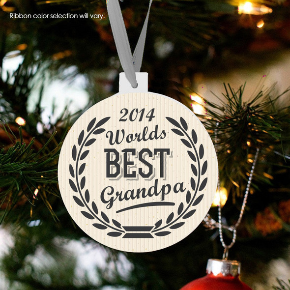 Holiday ornament worlds best grandpa Christmas ornament