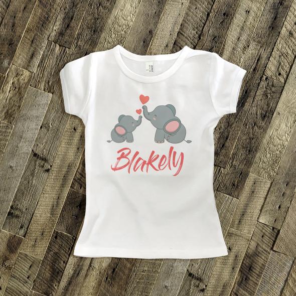 Valentine's Day shirt elephant love Tshirt or bodysuit