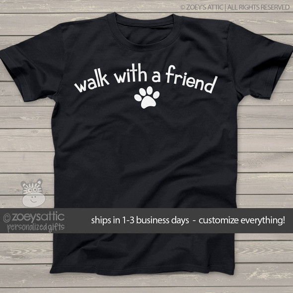 Dog paw walk with a friend unisex dark Tshirt