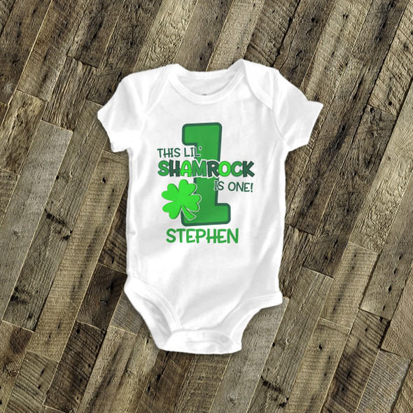 First birthday lil shamrock any age St. Patrick's Day Tshirt