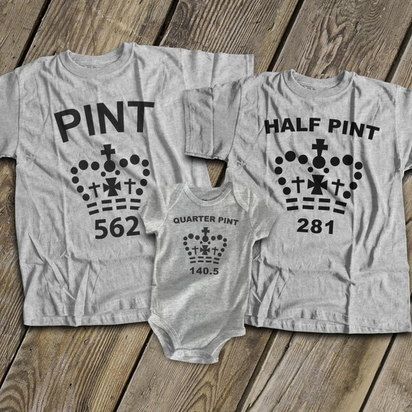 Pint size matching THREE shirt gift set