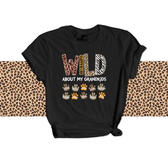 Wild about grandkids DARK Tshirt