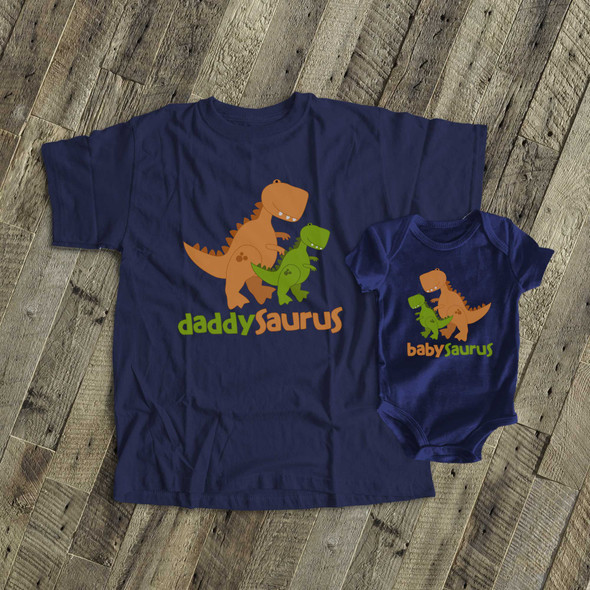 Dinosaur theme daddysaurus babysaurus DARK gift set
