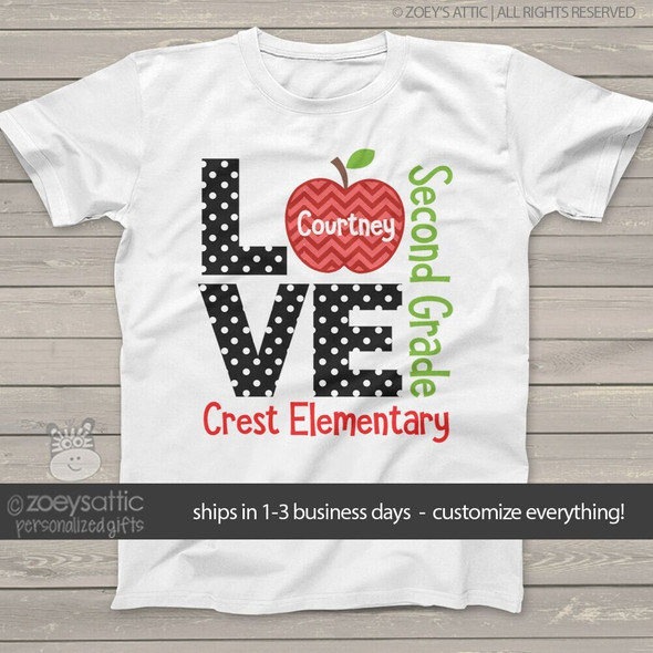 Student love school personalized Tshirt