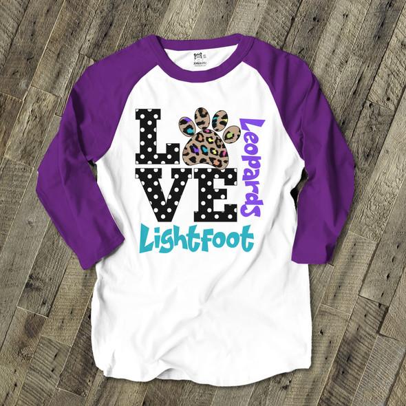 School Mascot Teacher Shirt - Lightfoot Leopards