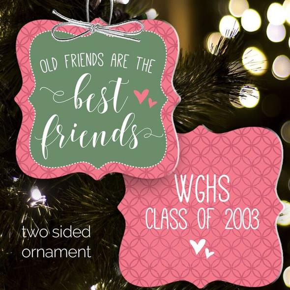 Best friends Christmas ornament