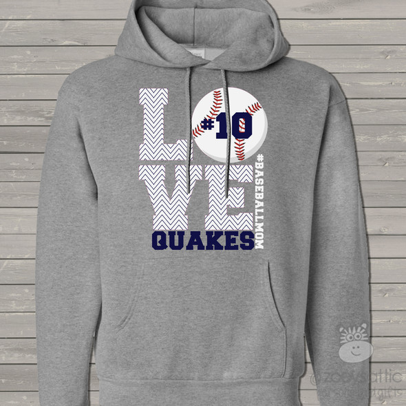Baseball mom hoodie sweatshirt LOVE