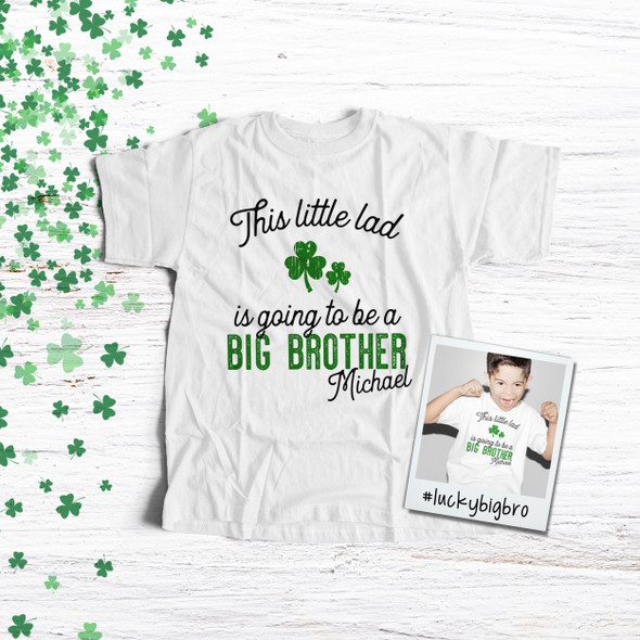 Big brother to be shirt little lad pregnancy announcement Tshirt