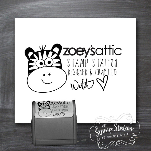 Custom handmade self inking stamp