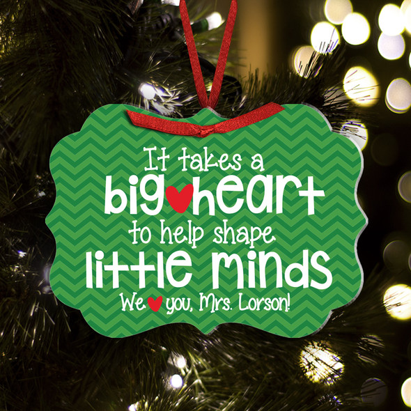 Little minds teacher ornament