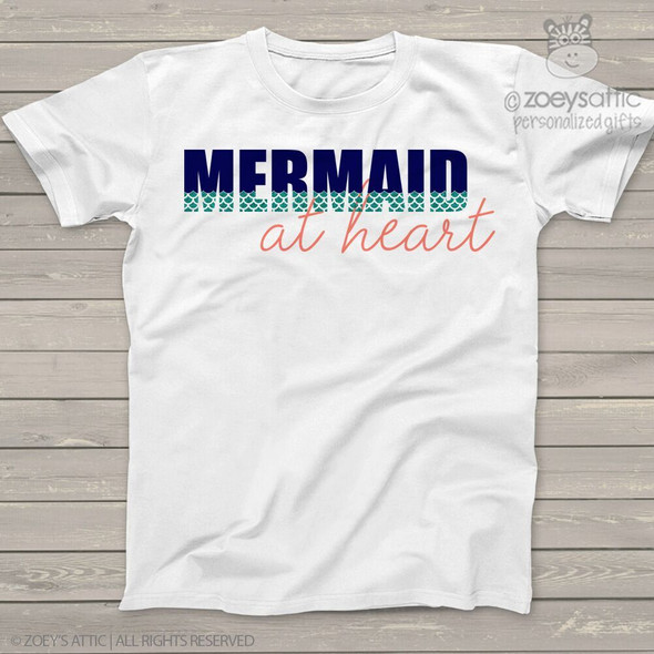 Mermaid at heart sparkly glitter Tshirt