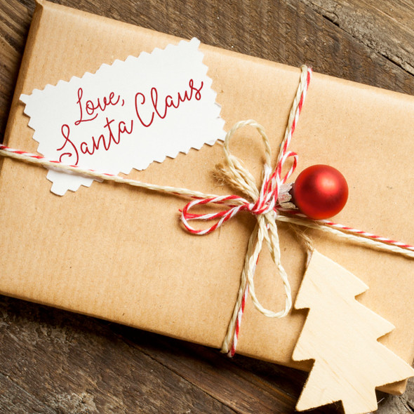 Love Santa Claus gift tag self inking stamp