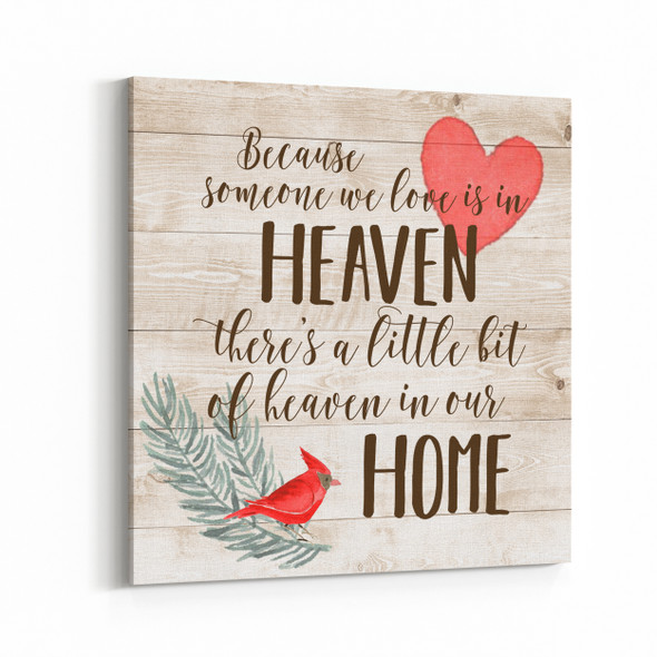 Someone we love memorial canvas wall art