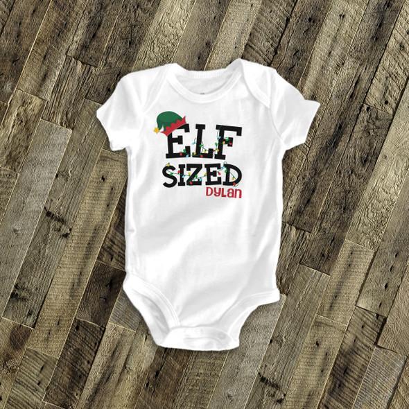 Elf sized Christmas bodysuit or Tshirt