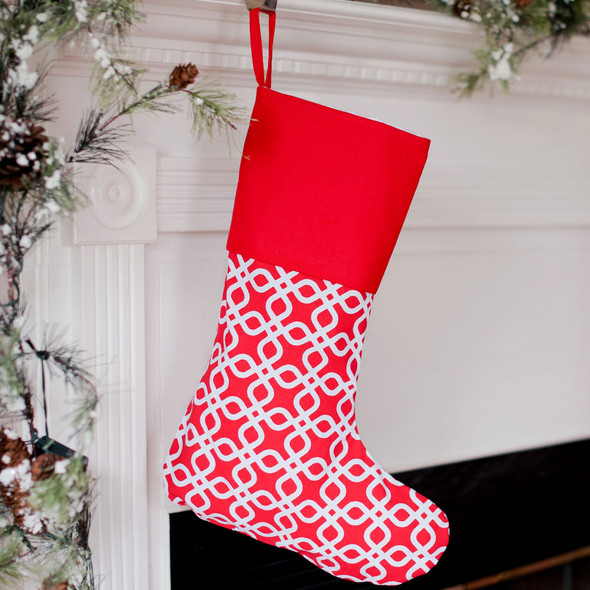 Kringle Stocking - can be embroidered
