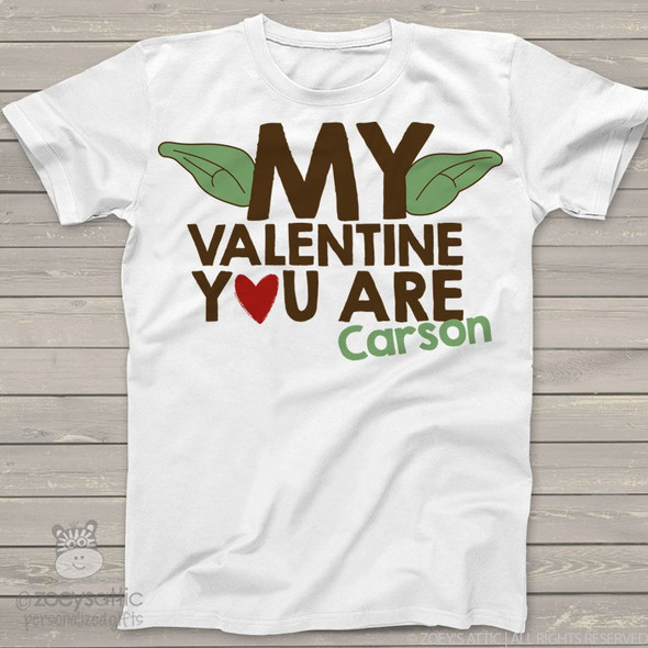 Funny Valentine yoda ears personalized shirt