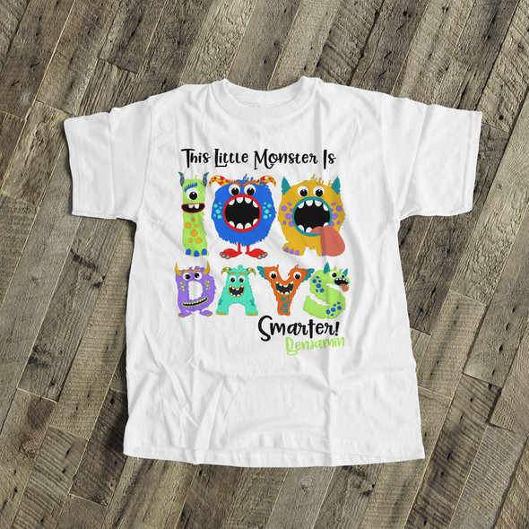 Student 100 days smarter monster Tshirt