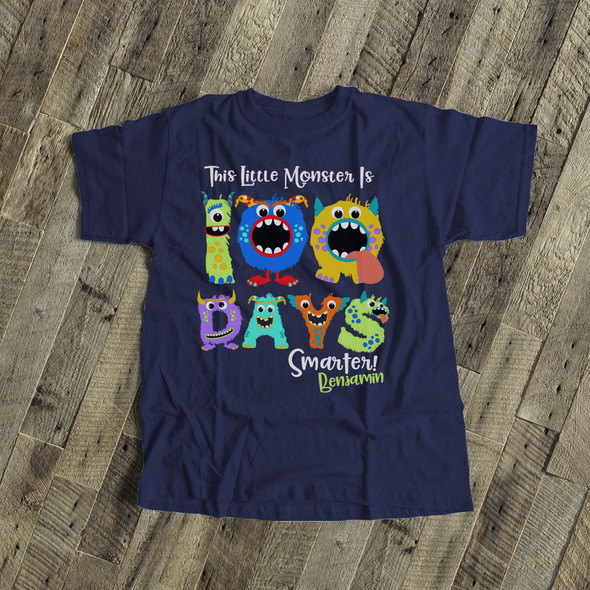 Student 100 days smarter monster DARK Tshirt