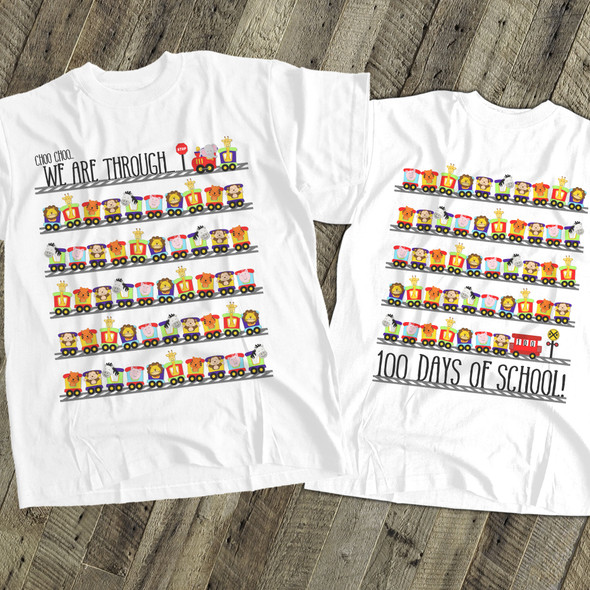Student 100 days train Tshirt