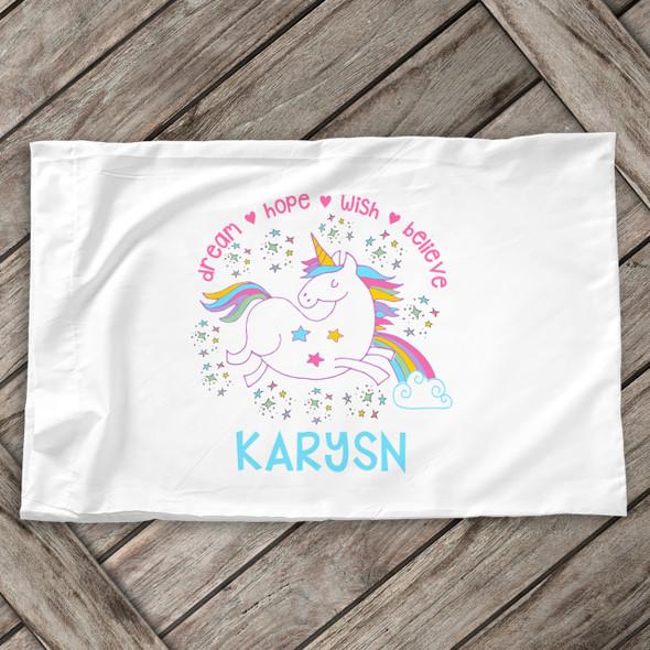 Unicorn personalized pillowcase / pillow