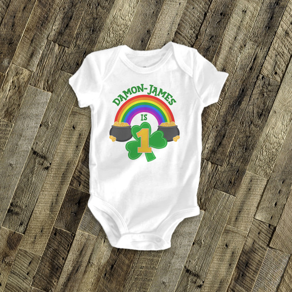 First birthday rainbow pot of gold Tshirt
