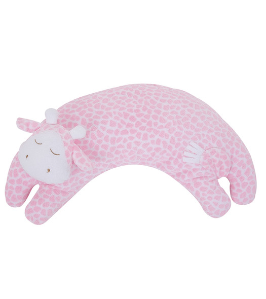 Pink Giraffe Curved Pillow by Angel Dear