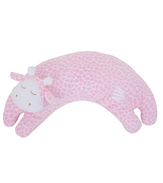 Pink Giraffe Curved Pillow by Angel Dear