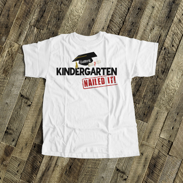 Kindergarten graduation cap and diploma nailed it Tshirt