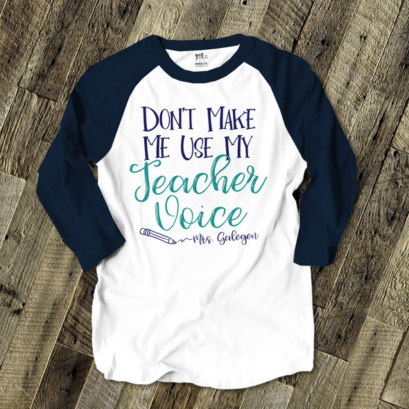 Teacher voice unisex ADULT raglan shirt
