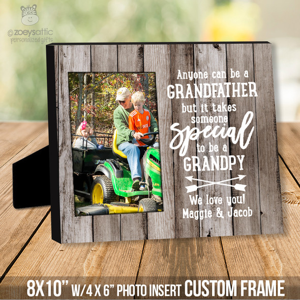 Father's Day anyone can be a grandfather photo frame