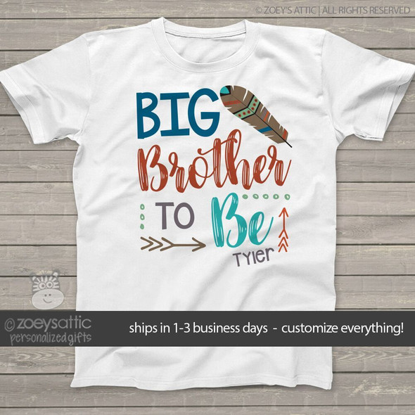 Big brother to be feather Tshirt