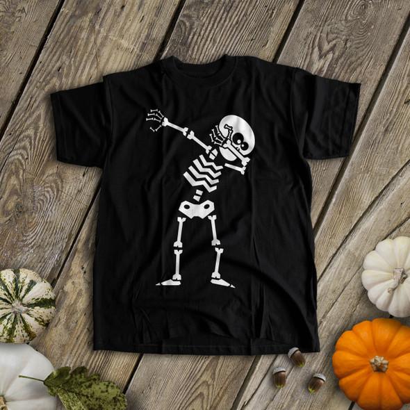 Halloween dabbing skeleton dark Tshirt